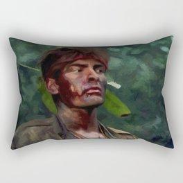Charlie Sheen @ Platoon Rectangular Pillow