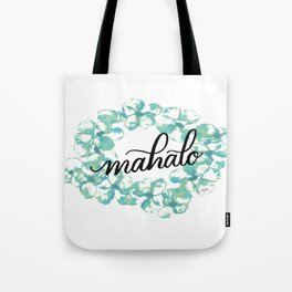 Thank you Mahalo from Hawaii Tote Bag