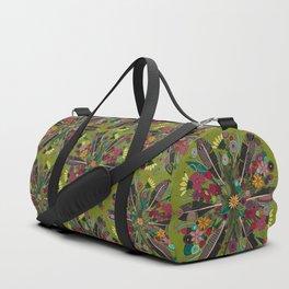 bohemian posy green Duffle Bag