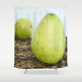 One Pair, Two Pears Shower Curtain