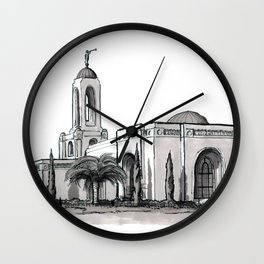 Newport Beach California Temple Wall Clock