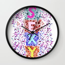 Geometric - Sexy triangles Wall Clock