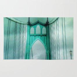 St John's Bridge Portland Oregon Rug