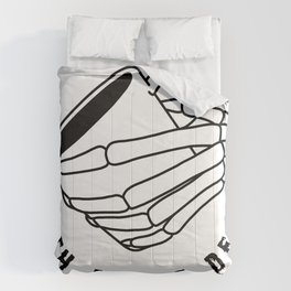 Death Before Decaf Hand Comforters