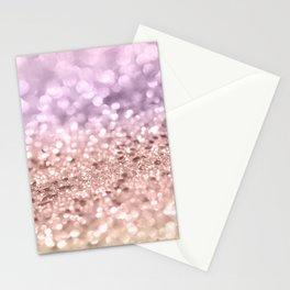 Rose Gold Blush Purple MERMAID Girls Glitter #1 #shiny #decor #art #society6 Stationery Cards