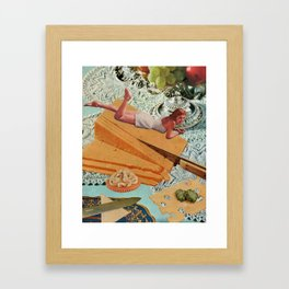 Money Can't Buy You Happiness, But It Can Buy You Cheese Framed Art Print