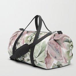 Circular Succulent Watercolor Duffle Bag