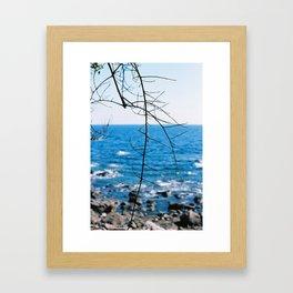 Blue blue ocean Framed Art Print