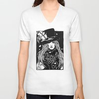 stevie nicks V-neck T-shirts featuring Blacklights Stevie by Lynette K.