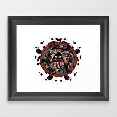 Evil Mandala Framed Art Print