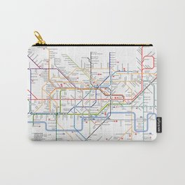 London Britain MAP METRO Carry-All Pouch