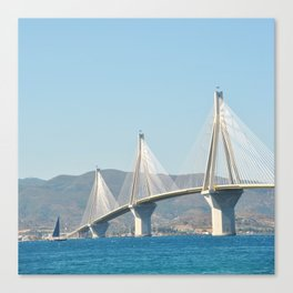 Rio Antirrio Bridge Canvas Print