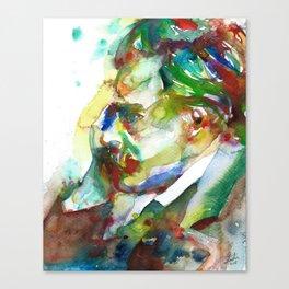 FRIEDRICH NIETZSCHE - watercolor portrait.3 Canvas Print