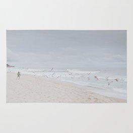 beach vibes x / half moon bay, california Rug
