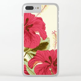 Vintage Garden (Tropical Hibiscus) Clear iPhone Case