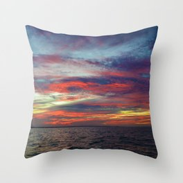 Fall sunset above Lake St. Clair, Canada Throw Pillow