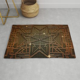 Abstract metal structure Rug