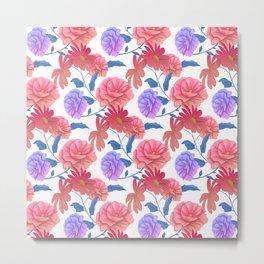 Flowers painting art painting pattern Metal Print