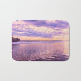 Solace by Sunset Cayucos pier and beach Bath Mat