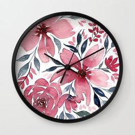Modern Watercolor Florals No. 2 Wall Clock