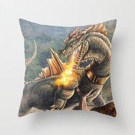 Taro VS Cyclops Commission Throw Pillow