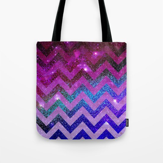 Galaxy Chevron Tote Bag