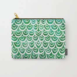 Watercolor Mermaid Emerald Carry-All Pouch