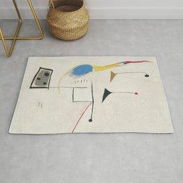Joan miro painting on white background Rug