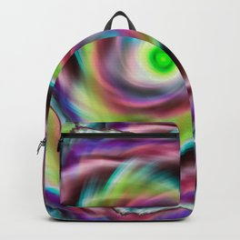 Rainbow psychedelic vortex Backpack