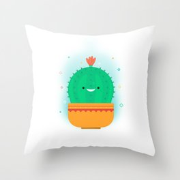 The Cactypes Collection: Barry Throw Pillow