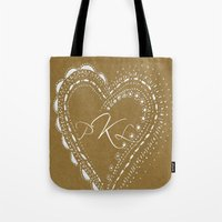 monogram Tote Bags featuring monogram by L Step