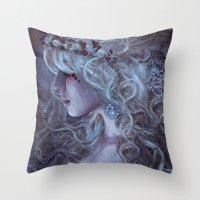 medusa Throw Pillows featuring Medusa by Alexandra V Bach