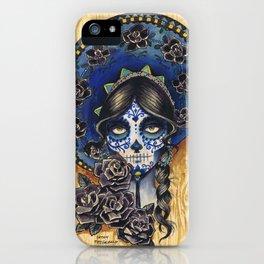 Sombrero Skull Girl iPhone Case