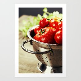 Fresh tomatoes Art Print