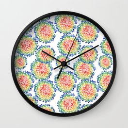 Color My Swirled Wall Clock