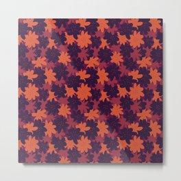 moody floral shapes Metal Print