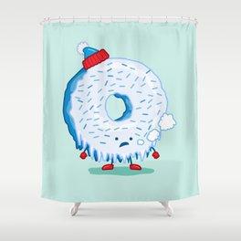The Frigid Donut Shower Curtain