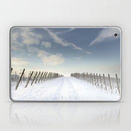 Vineyards in the snow Laptop & iPad Skin