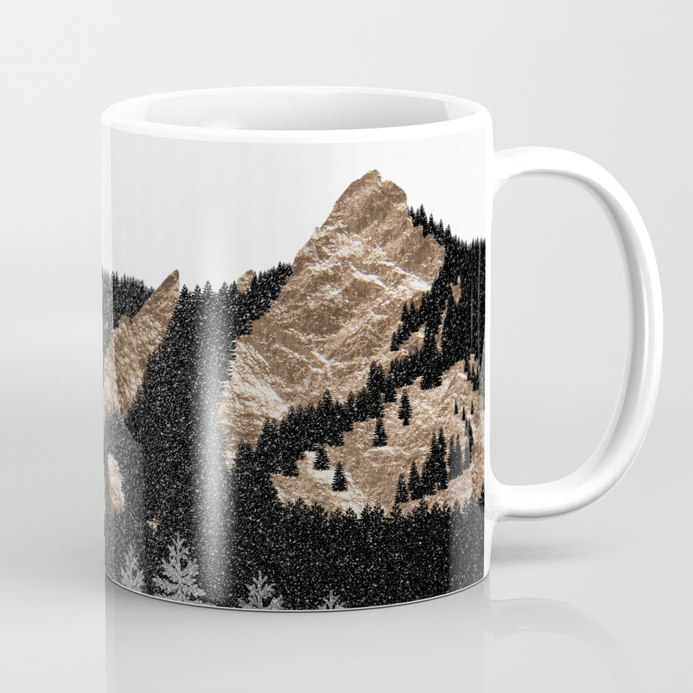Flatirons Boulder Colorado Climbing Gold Mountains Coffee Mug By A88mountainscape Society6