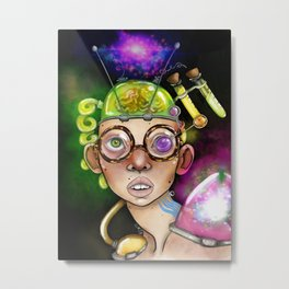 The Mad Scientist! Metal Print