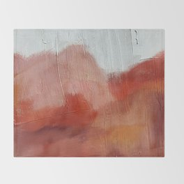 Desert Journey [2]: a textured, abstract piece in pinks, reds, and white by Alyssa Hamilton Art Throw Blanket