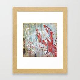 New Orleans Gumbo Sign Framed Art Print