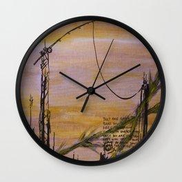 Cranes and Martyrs Wall Clock