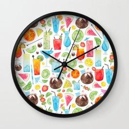 Summer Fruit Cocktail Wall Clock