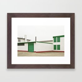 green architecture Framed Art Print