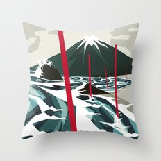 Breaking the Waves II Throw Pillow