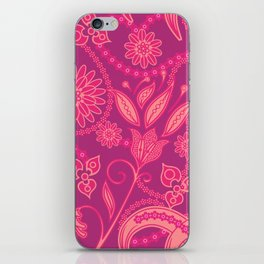 Hot Pink Panther Floral iPhone Skin