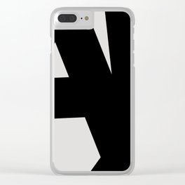 Abstract Form 01 Clear iPhone Case