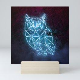 Fluorescent Owl Mini Art Print