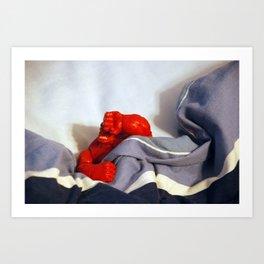 Red Hulk Not Morning Person Art Print
